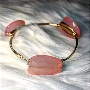 Jewelry - LAST ONE! Blush Gold Wire Wrapped Bangle